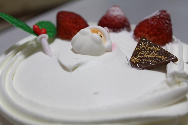 サンローゼ「クリスマスボンブケーキ5号」ナナメ上から