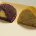 らぽっぽ「スイートポテト・紫芋スイートポテト」断面